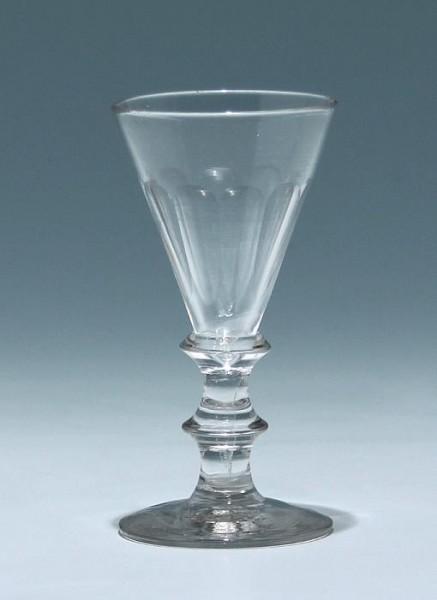 Portweinglas mit Schälschliff - Ende 19. Jh. - 11,3 cm