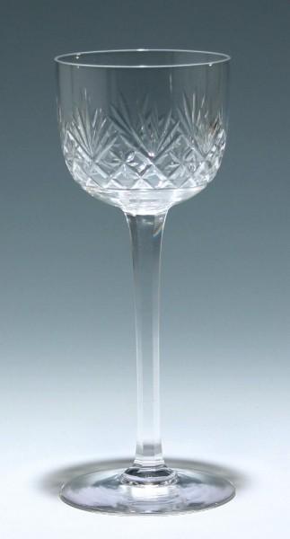 Mundgeblasenes Bleikristall Jugendstil Weinglas um 1920