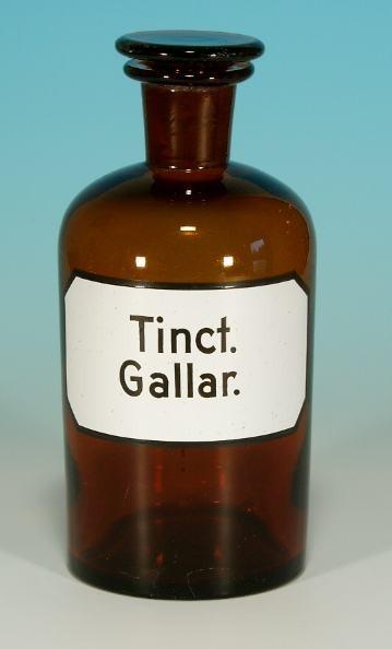 Apothekenflasche Tinct. Gallar. - 17,8 cm