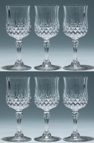 6 Cristal d`Arques Weingläser LONGCHAMP 18,2 cm