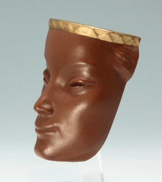 Keramik Wandmaske 1950er Jahre