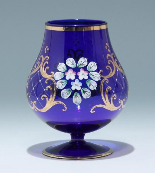 Mundgeblasene Vase mit Reliefgoldbemalung