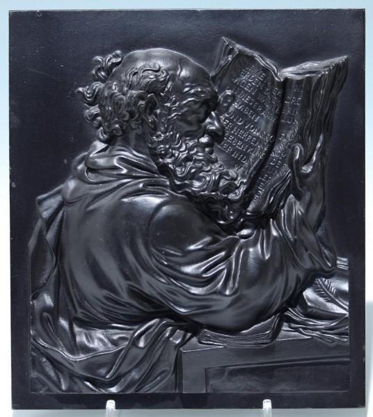 Buderus Eisenkunstguss Wandplatte DER GELEHRTE