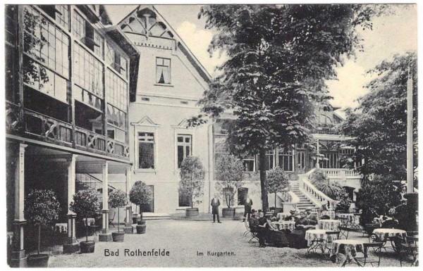 AK - BAD ROTHENFELDE Kurgarten - gelaufen 1911
