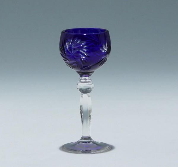 Annahütte Bleikristall Überfanglikörrömer 12,2 cm - kobaltblau
