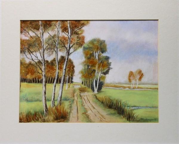 Landschaft - Pastell signiert Struckmeyer 90