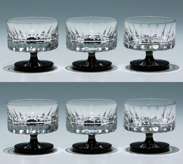 6 Friedrich Glas Likörschalen 1960er Jahre