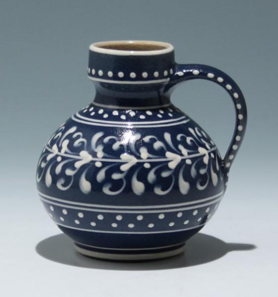 Kleine Lausitzer Keramik Kanne - handbemalt