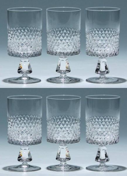 6 Barthmann Bleikristall Kelchgläser - 13 cm