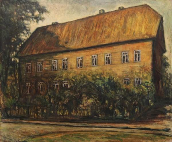 Ölgemälde DOMAENENHAUS EBSTORF von Harald Illies (1911-1985)