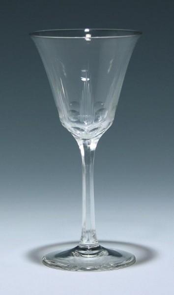 Mundgeblasenes Art Deco Weinglas circa 1925 - 17 cm