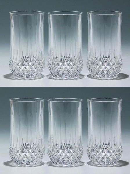 6 Cristal d`Arques Bechergläser LONGCHAMP - 13,4 cm