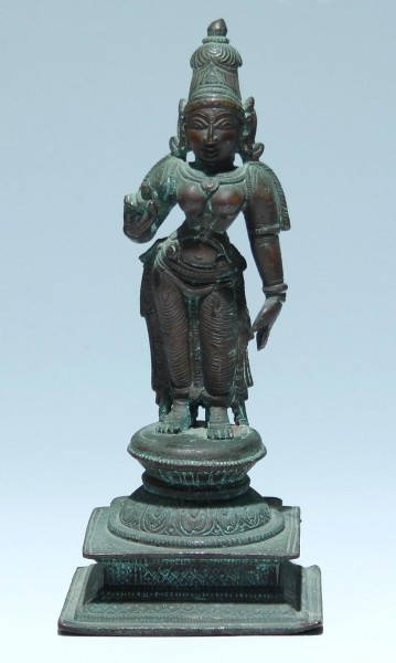 Indian Copper Alloy Phu Figure - 19th. C.