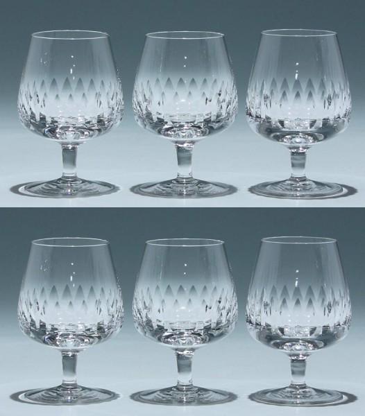 6 Cognacgläser Kristallglashütte Gistl in Frauenau 1960er Jahre