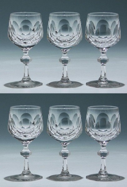 6 Nachtmann Bleikristall Südweingläser ALEXANDRA 13 cm