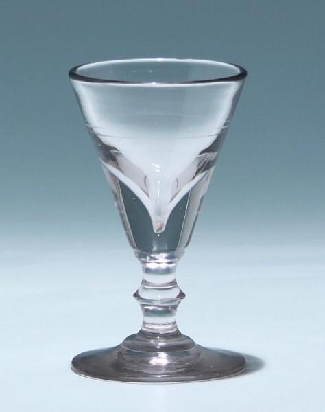 Portweinglas mit Ausschliff - Ende 19. Jh.