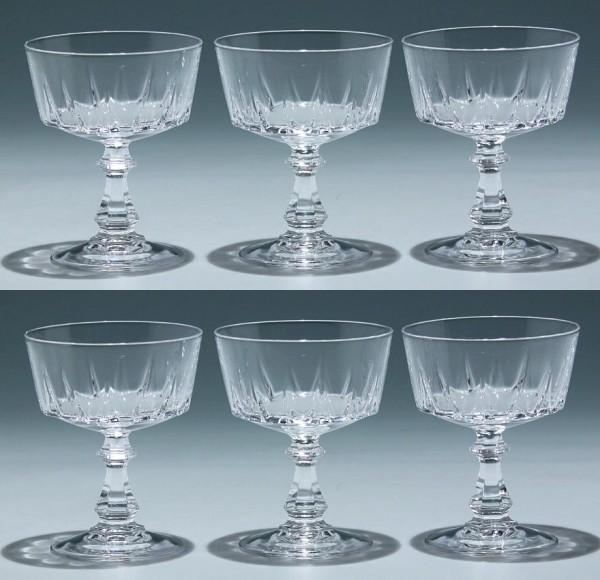 6 Cristal d`Arques Sektschalen LOUVRE 11,4 cm