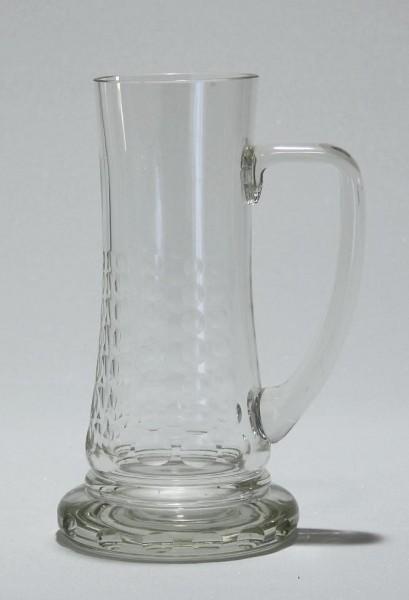 Geschliffener Bierkrug 1960er Jahre