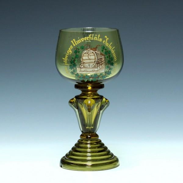 Studentischer Weinrömer 500jähriges Universitäts Jubiläum 1866 Heidelberg 0,25L