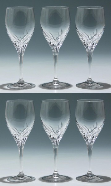 6 Nachtmann Bleikristall Weingläser YVONNE - 19,2 cm