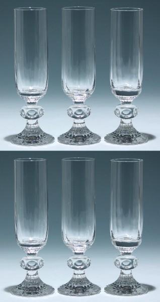 6 Riedel Bleikristall Sektgläser - Serienname leider unbekannt