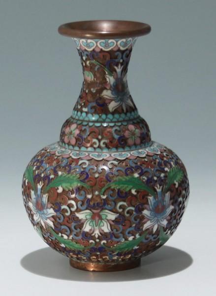 Cloisonne and Enamel Vase - China 19th. C.