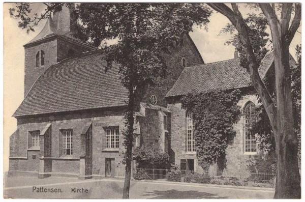 Ansichtskarte PATTENSEN / LEINE - KIRCHE - gelaufen 1924 #ak0050