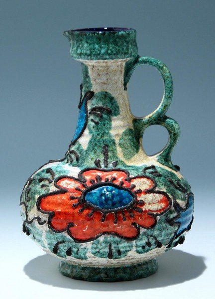 Große Pop Art Keramik Vase 1970er Jahre