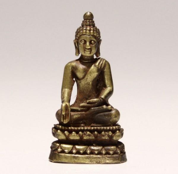 Miniature Brass Buddha with Inscription - 3,6 cm