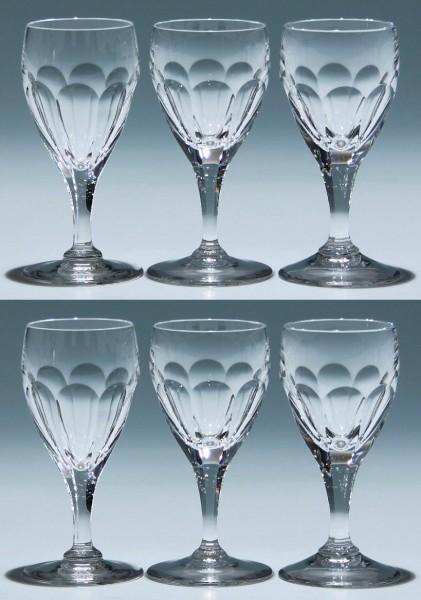 6 Peill Bleikristall Portweingläser ATLANTIS