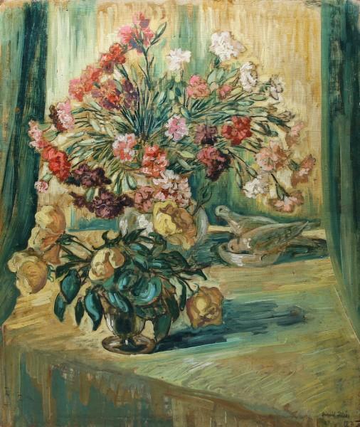 Frühes Blumenstilleben von Harald Illies (1911-1985)