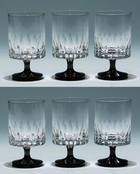 6 Friedrich Glas Kelchgläser 1960er Jahre - 11 cm