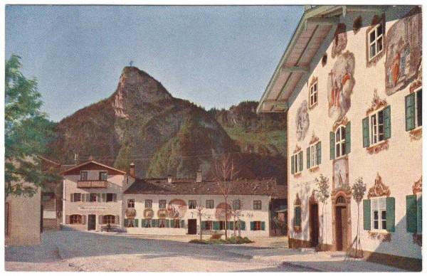 Ansichtskarte OBERAMMERGAU - HAUPTSTRASSE - datiert 1921 #ak0051
