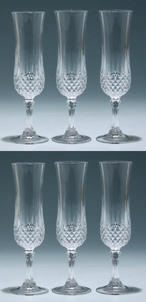 6 Cristal d`Arques Sektgläser LONGCHAMP