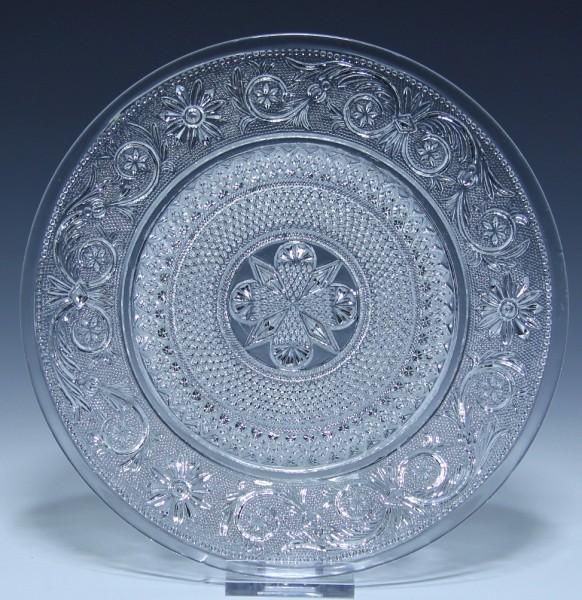Saint Louis Pressglas Teller Nr. 1220 - Launay Hautin 1840