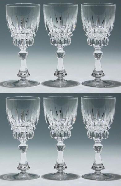 6 Nachtmann Bleikristall Weingläser ASTRA 16,8 cm