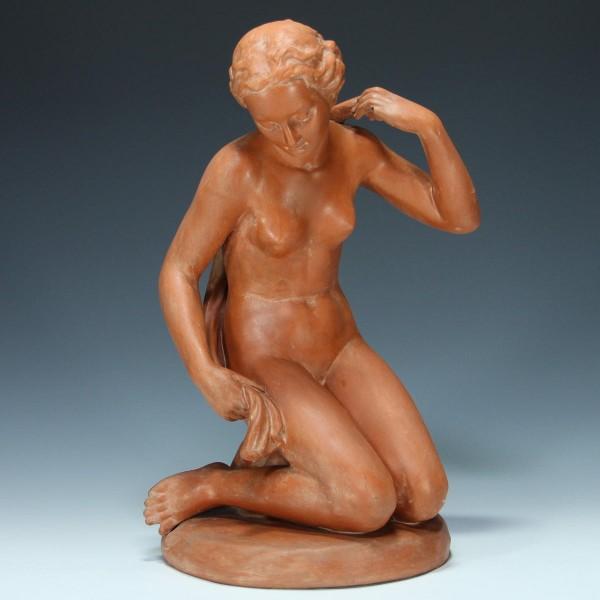 Goebel Terracotta Aktfigur signiert Reinhold Unger - 34,3 cm