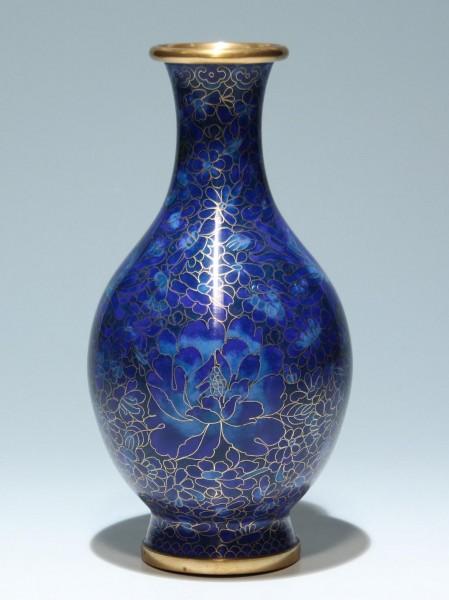 Cloisonné Vase - China 20. Jh. - 25,6 cm