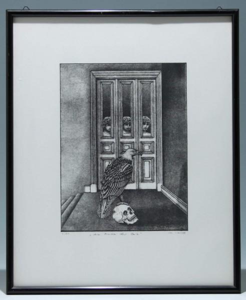 Lithografie DIE MACHT DER ZEIT von Ch. Lange