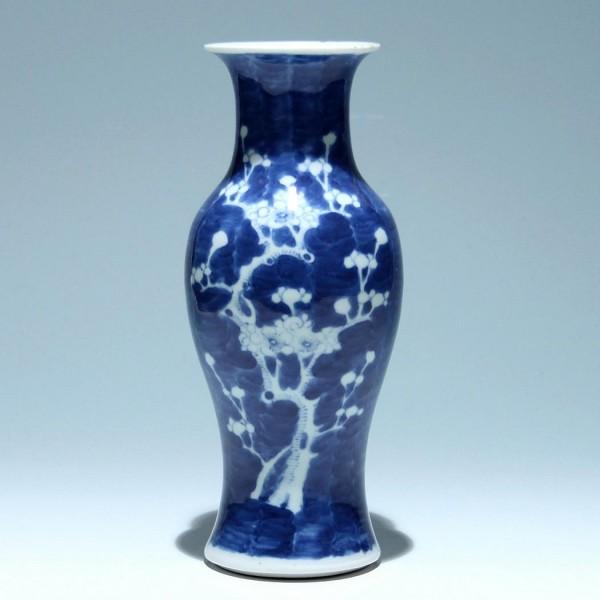 Chinese Cobalt Prunus Vase - 19th/20th C.