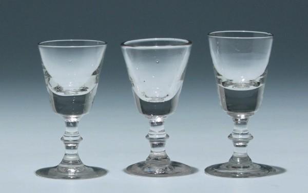 3 Kelchgläser - Frankreich 19. Jh. - 9 - 9,5 cm