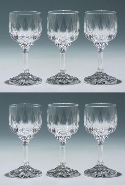 6 Villeroy & Boch Bleikristall Süßweingläser ARABELLE 12,6 cm