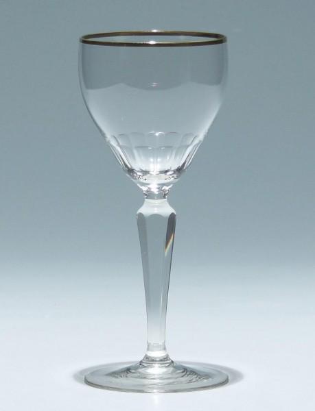 Jugendstil Weinglas mit Goldrand - Anfang 20. Jh.