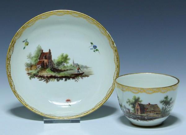 Oude Loosdrecht MOL Koppchen Cup and Saucer 1771-1784