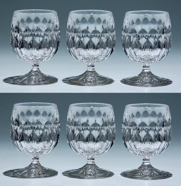 6 Nachtmann Bleikristall Cognacschwenker EDELWEISS