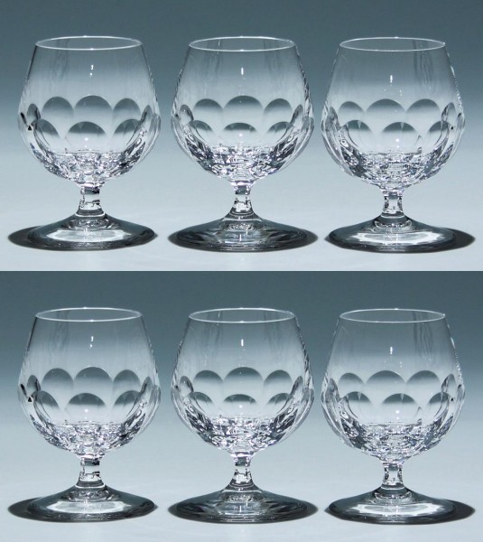 6 Peill Bleikristall Cognacgläser ATLANTIS