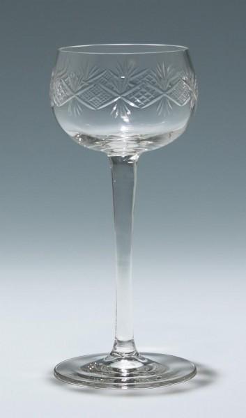 Rieslingglas mit Schliff 1. H. 20. Jh.