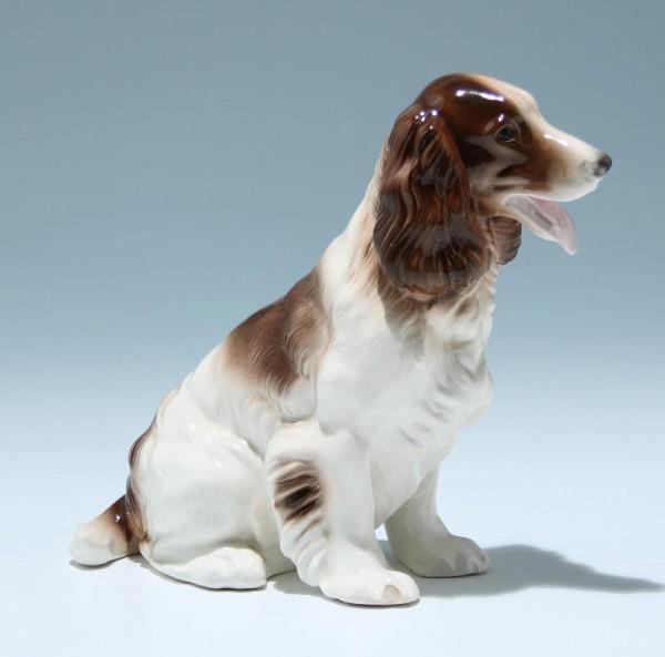 Treuer Hund - Keramikfigur Mitte 20. Jh.