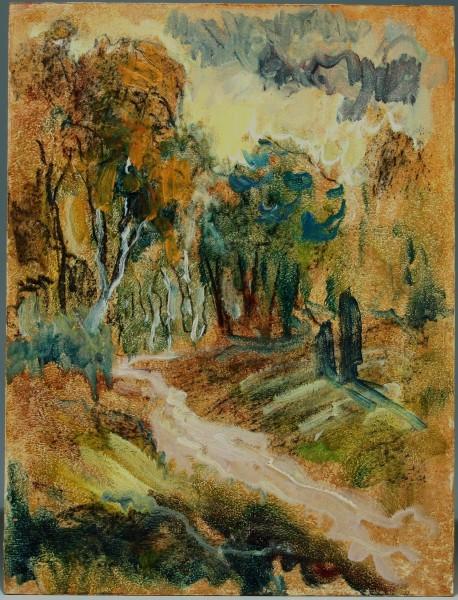 Ölgemälde WALDLANDSCHAFT von Harald Illies (1911-1985)
