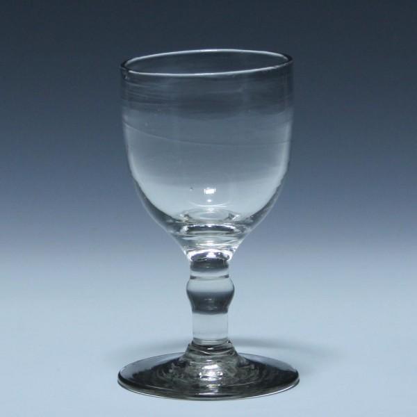 Weinglas mit Abriss - 19. Jh. - 11,7 cm